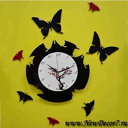 Оригинальные часы настенные своими руками