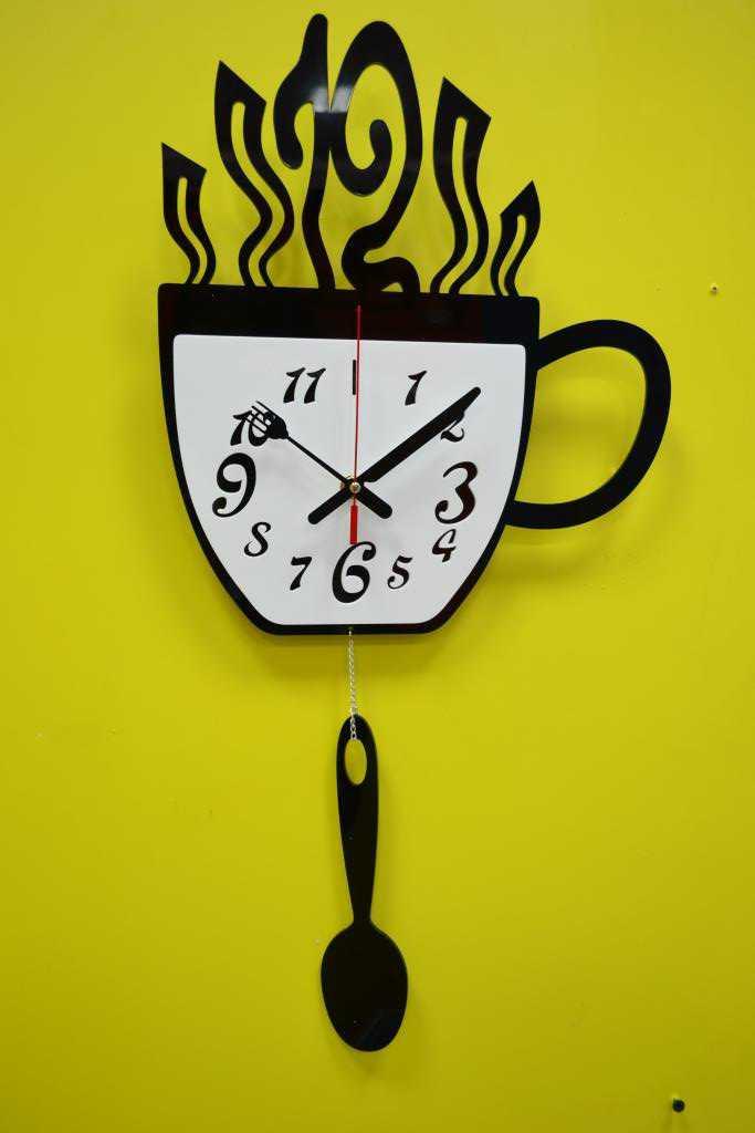 Оригинальные часы для кухни своими руками 23